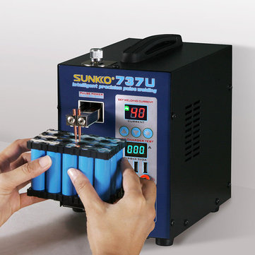 SUNKKO 737U 220V/110V Battery Spot Welding Machine Handheld Welding Battery & Testing & Charging