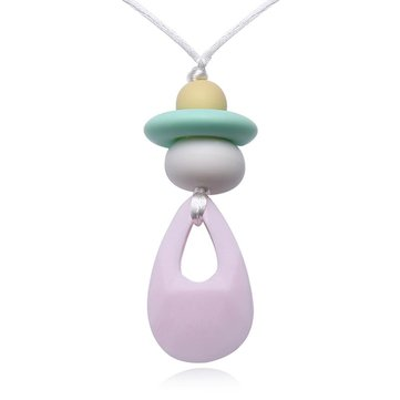 Vvcare BC-TN03 Baby Silicone Teething Necklace Water Drop Pendant BPA Free Beads Teether Necklace Toys