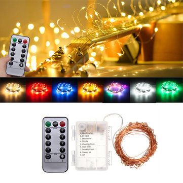 Battery Powered 10M 100LEDs Waterproof Copper Wire Fairy String Light for Christmas +Remote Control