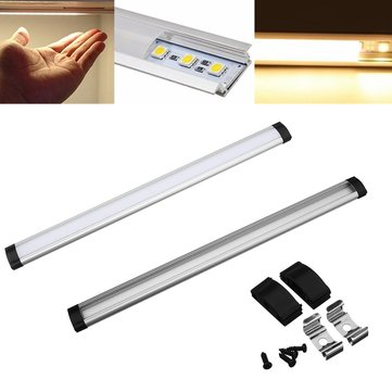 LUSTREON 30/50CM Milky White Transparent Aluminum Channel Holder For LED Strip Light Cabinet Lamp