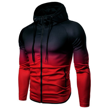 Mens Zipper Up Sport Hoodies