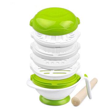 GL YM-1 다기능 분쇄기 그릇 1 아기 급식 세트 아기 과일 피더 아기 식품 그라인더 쿡