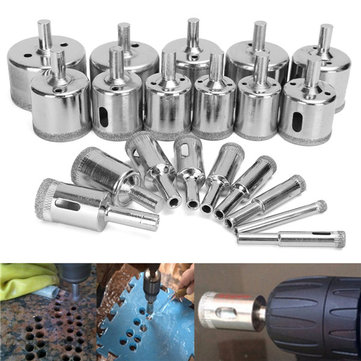 20pcs 6-50mm Diamond Drill Bits Hole Saw Set for Glass Ceramic Marble