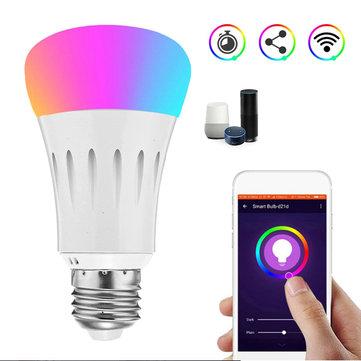 E27 7W RGBW 600LM WIFI LED Smart Light Bulb for Echo Alexa Google Home AC85-265V