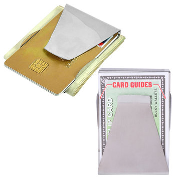 IPree Slim Stainless Steel Men Women Money Credit Card Wallet Clip