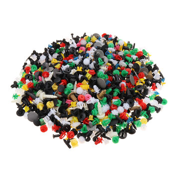 1000PCS Mixed Car Door Bumper Fenders Fastener Retainer Rivet Push Pin Clips