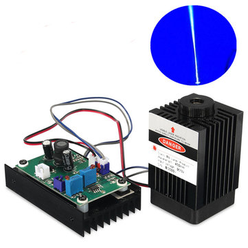 450nm Blue Laser Module With 12V TTL Modulation For DIY Cutter Carving