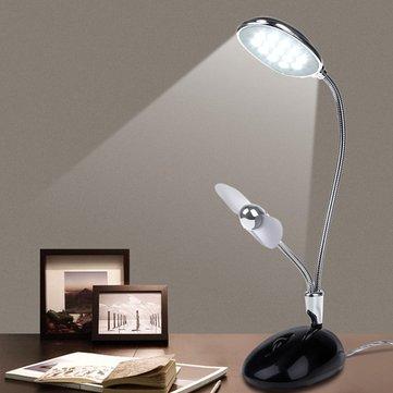 2 в 1 мини гибкий USB-вентилятор 13 LED свет чтения стол стол лампа для портативных ПК