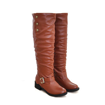Big Size Women Casual Over The Knee Boots Platform Slip On Boots