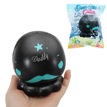 Cutie Creative Black Octopus Squishy 16cm Slow Rising With Packaging Collection Gift Soft