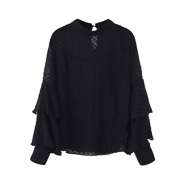 Sexy Polka Dot Long Sleeve Blouses for Women