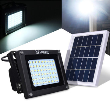 Solar Ed 54 Led Sensor Flood Light Waterproof Outdoor Security Lamp