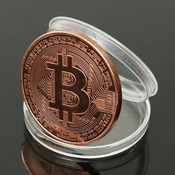 1pcs Rose Gold Bitcoin Model Commemorative Coin BTC Decoration Coins Metal