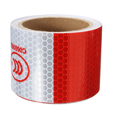 3M Red White Reflective Tape Night Safety Warning Conspicuity Tape Film Sticker
