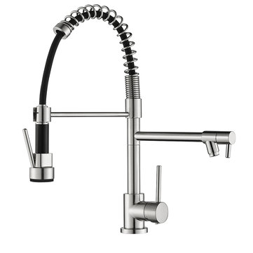 Spring Kitchen Faucet Single Handle Pull-Out Kitchen Faucet