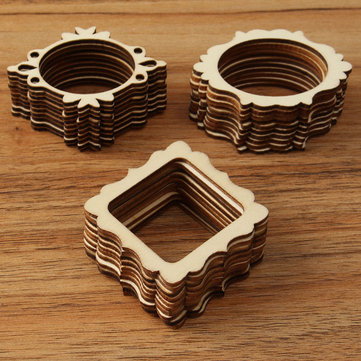 30pcs Wooden Handmade Craft Decoration Gift DIY Jewelry Tools Findings