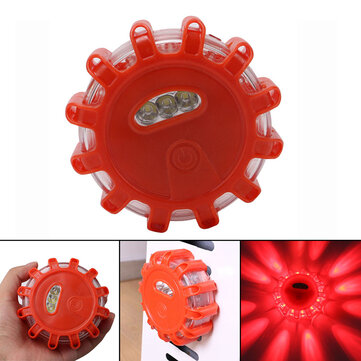 Rechargeable LED Roadside Safety Car Boat Truck Emergency Flare Warning Flashlight Disc Beacon