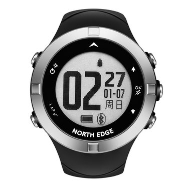 NORTH EDGE X-TREK2 New GPS Heart Rate Monitor Outdoor Sport Modes Compass Multi-language bluetooth Smart Watch