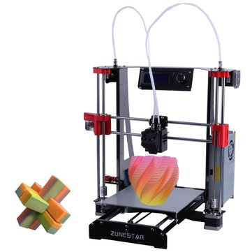 Zonestar® M8R2 Full Metal Reprap I3 DIY 3D Printer 220x220x240mm Printing Size With Bowen Extruder/Mixed Color Hotend/Auto leveling/Filament Run Out Detector/Proximity Sensor/Support Flexible Filament
