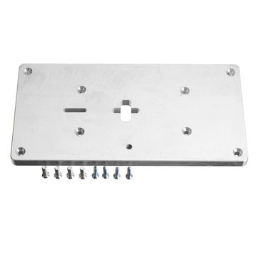 Aluminum Router Table Insert Plate with Fixing Screws For Jig Saw Woodworking Benches