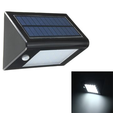 20 LED Solar Panel Sensor Light Outdoor Waterproof IP65 Fence Wall Garden Lamp