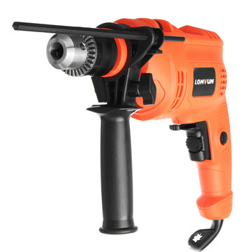 220V 600W Multifuncation Hammer Drill 3200 RPM Corded Electric Drill Impact Drill for Drilling
