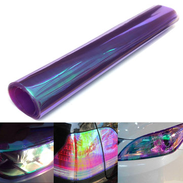 Car Sticker Motorcycle Headlamps Fog Light Color Film 100cmx30cm