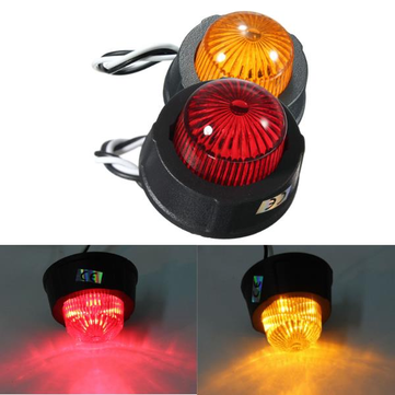 10-30V LED Side Marker Light Lamp Brake Tail Light Universal For Truck Trailer Lorry Caravan
