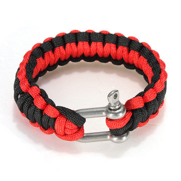 Paracord Survival Weave Bracelet Handmade Paracord Survival Bracelet Stainless Steel Buckle