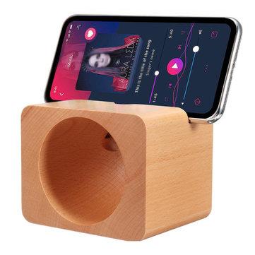 Ahşap Doğal Ses Amplifikatör iPhone Xiaomi Cep Telefonu için Masaüstü Telefon Tutucu Standı