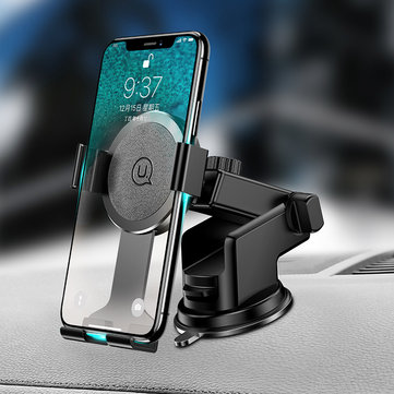 USAMS Multi-angle Rotation Adjustable Arm Car Dashboard Stand Windshield Holder for Mobile Phone