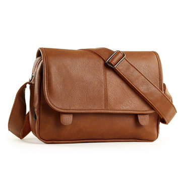 Retrò Business Messenger pu borsa di pelle crossbody uomini sacchetto di spalla casuale all'aperto