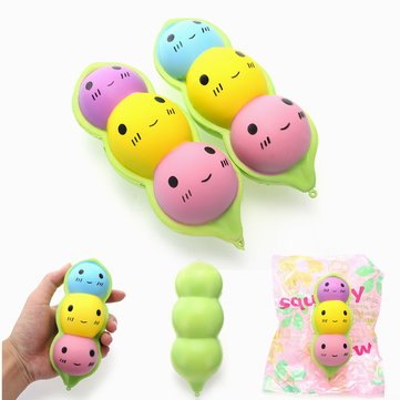 YunXin Squishy Peas In A Pod 15cm Slow Rising With Packaging Collection Gift Decor Toy