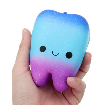 Teeth Squishy Charm 10*7*5CM Slow Rising Toy Cute Pendant Gift Collection