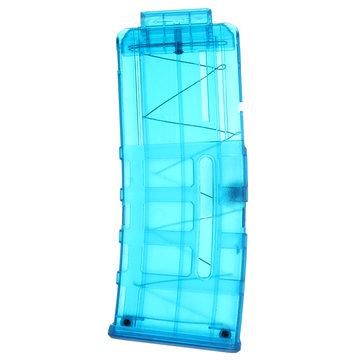 WORKER Mod ProphecyR 12 Darts Quick Reload Clip For Nerf N-Strike Blaster Blue Transparent Toys