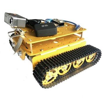 Fai da te T200 doppio livello video wifi intelligente robot telaio serbatoio con fotocamera HD