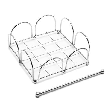 Chrome Napkin Serviette Holder Dispenser Rack Home Party Dining Table Decoration Paper Shelf Holder