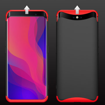Bakeey™ 3 in 1 Double Dip 360° Full Hard PC Protective Case Magnetic Design For OPPO Find X