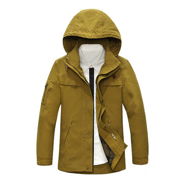 Casual Cotton New Fashion Hooded Casual Men Long Sleeve Dressing Jacket