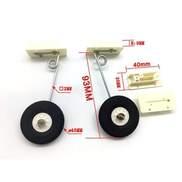 KT EPP Landing Gear 40mm Wheel For RC Airplane Spare Part
