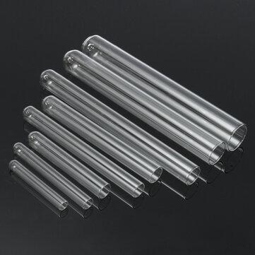 5Pcs Transparent Lab Borosilicate Glass Test Tube in Diffrent Size for Laboratory
