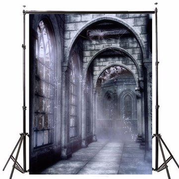 5x7ft Vinyl Retro Old Castle Backdrop Studio Photography Photo Background Props