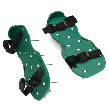 Lawn Aerator Shoes Spiked Sandals Aerating Soil Sandals Adjustable with Accessories