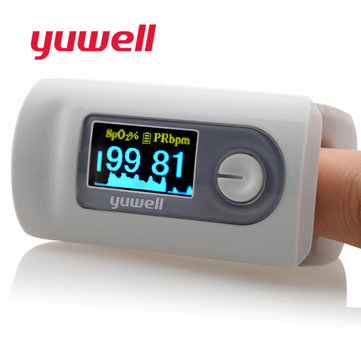 Yuwell YX301 Portable Pulse Finger Oximeter Blood Oxygen Saturation Blood Pressure Monitor LED Display Fingertip