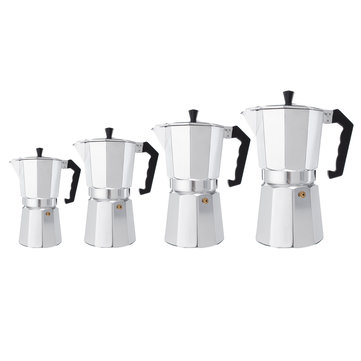 3/6/9/12 Cups Aluminum Espresso Moka Percolator Portable Coffee Maker Stovetop Home DIY