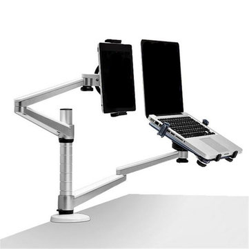 2 In 1 360º Rotating Height Adjusting Tablet/Laptop Stand Holder For 10-15