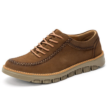 Men Soft Lace Up Oxfords