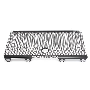 Stainless Steel Grill 3D Mesh Insert Cover Hood Lock Hole for Jeep Wrangler JK 2007-2015