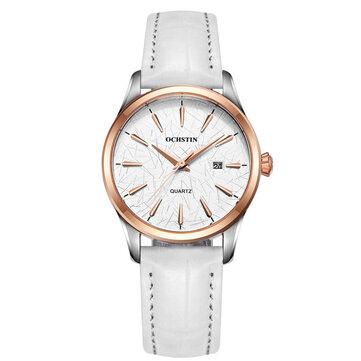 오시틴LQ022-A캐주얼스타일여성손목 시계 방수 가죽 밴드 쿼츠 무브먼트 워치