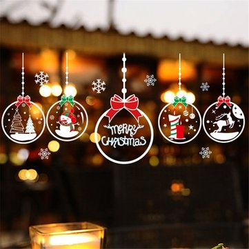 DIY Christmas Wall Stickers Home Decor Christmas Snow Window Glass Decorative Wall Decal